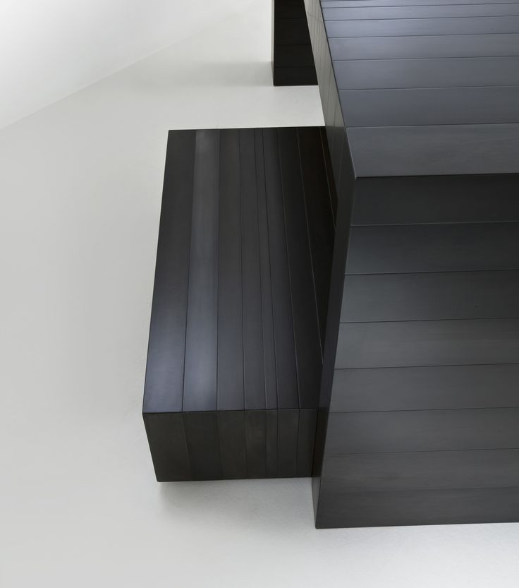 """ST 21 M - Console completely clad in metal, available in special dimensions. Available in the following finishes: polished steel, satin copper, satin brass, burnished copper, burnished brass and black iron """"cenere"""". Designed by Bartoli Design   Laurameroni"""