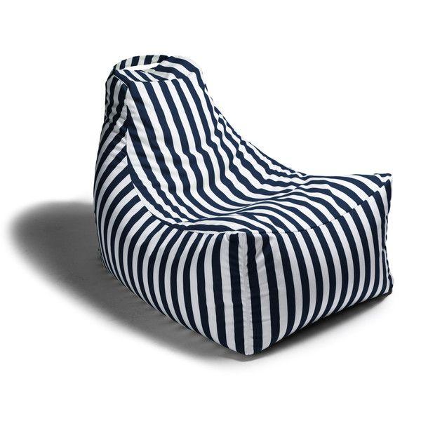 Juniper Outdoor Bean Bag Chair Navy Striped On Bezar
