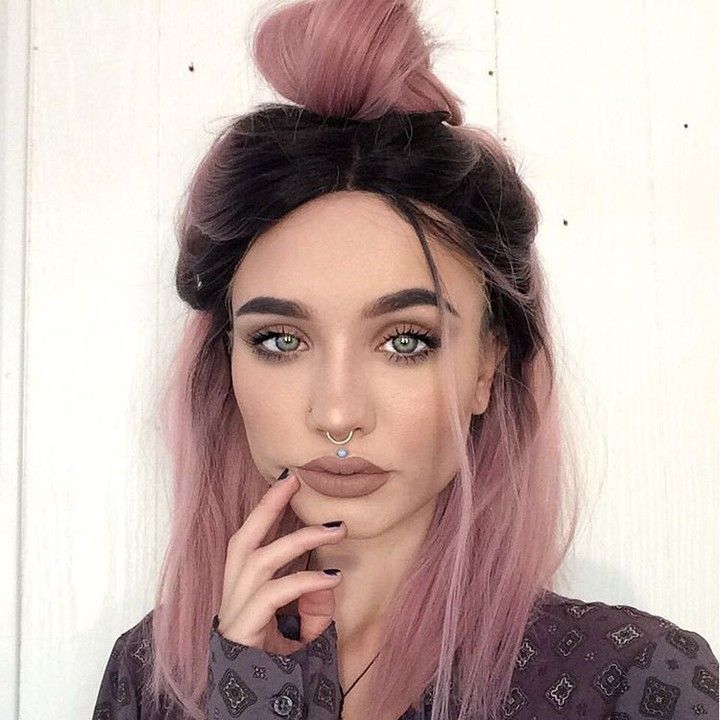 42 best pink wavy lob hair images on pinterest coupon coupons and rose pink hair color with dark roots solutioingenieria Image collections