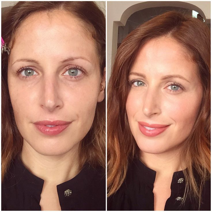 Make up no make up- before & after from Cliomakeup