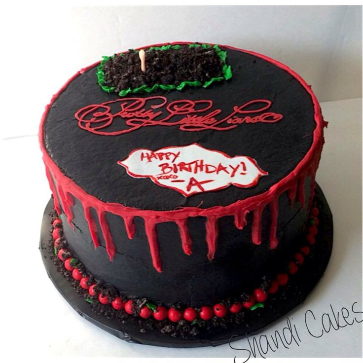 Pretty little liars cake by Shandi Cakes