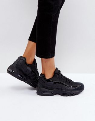 black air max trainers
