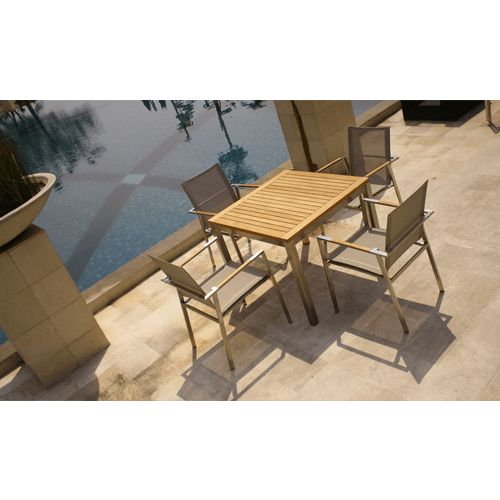 Siro Dining Table 90 Add a contact of understated first-rate outdoor with this Ibiza eucalyptus wood square dining table. This square dining table presents lengthy-lasting persistence with its weather-resistant wooden able of repelling towards termites, mildew and different types of decay. With its rectangular form, simply stack this desk away when now not in use. http://scadeconcepts.com/ For more detail contact us: Phone: 03-6156 8044 Fax: 03-6148 8084 Email: sales@scadeconcepts.com…