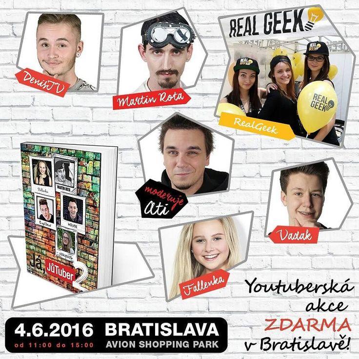 Kam se v sobotu chystáte? My do Bratislavy na Tour s Já jůtůber!  Přijďte nás potkat je to zadáčo :) #vadak #fallenka #realgeek #JaJutuber Všechny cool trička náramky a další věci youtubera Vadaka najdete na: http://ift.tt/1t1hIGs