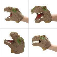 Handpop Simulatie Vinyl Tyrannosaurus Kids dinosaurus poppenkastpop Speelgoed ouder-kind Educatief Speelgoed Gift (China (Mainland))