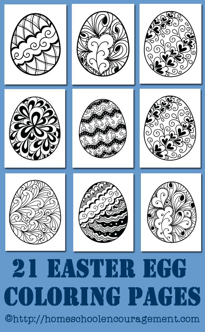 Free Printables 21 Easter Egg Coloring Pages