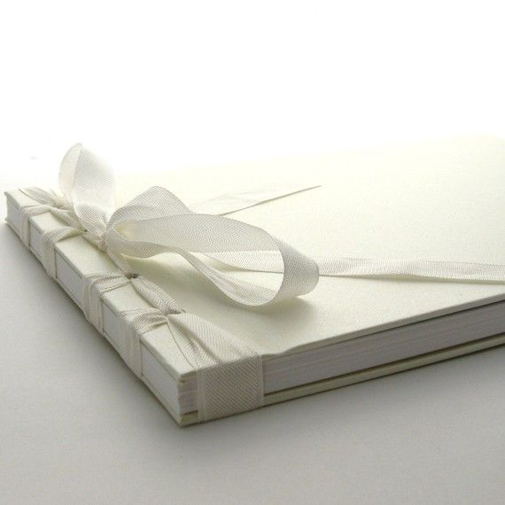 Handmade Wedding Guestbook by peaseblossomstudio