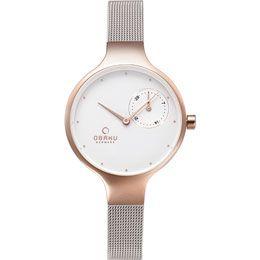OBAKU Eng - rose bi // rose gold and stainless steel ladies multifunction watch