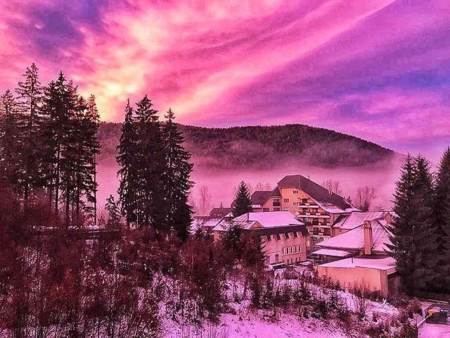 'Purple sunrise from Covasna County. #instagood #Postcard from a friend.' Regards&Follow @conugigitravels for snapshots of Romania's must-sees.  #covasnacounty #ig_covasna #travel  #romania #travelromania #transilvania #ig_travel #romaniamagica #holiday #travelphotography #ig_romania #ig_transilvania #beautifulplace #travelgram #beautifulplaces #nature  #justgotravelsc #instravel  #exploretheworld  #exploretheglobe  #vacances #village #landscape #woods #hills