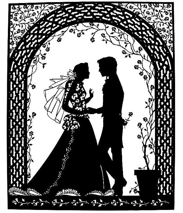 Открытка на свадьбу вытынанка