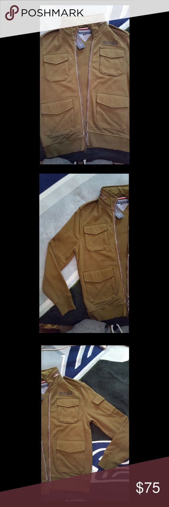 Tommy Hilfiger Military/Bomber Jacket Tommy Hilfiger Men's Ernesto Full-Zip Cotton Jacket (only one I've seen in this military green color) New with tags still attached! MSRP: $149.00 Tommy Hilfiger Jackets & Coats Military & Field