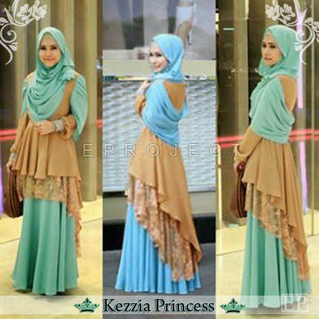Gamis Kezzia Princess Layer Brokat Online dan Murah - http://www.butikjingga.com/gamis-kezzia-princess-layer-brokat