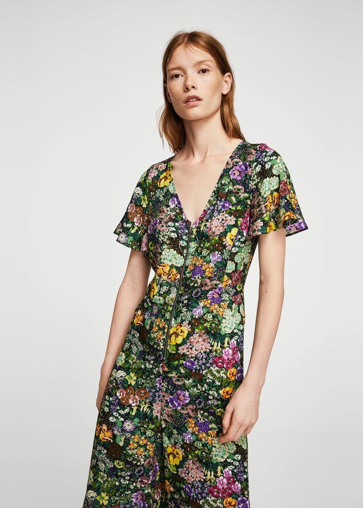 Floral print jumpsuit   MANGO