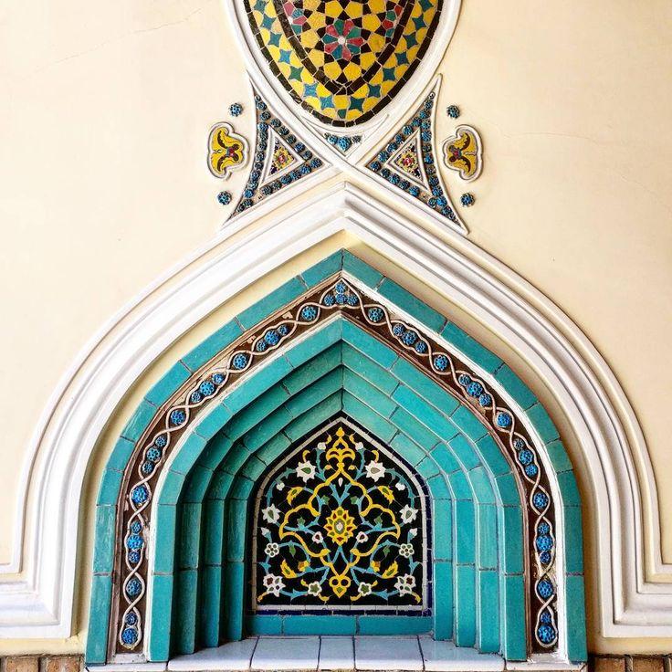 A detail of the beautiful Moghadam house - Tehran - Iran