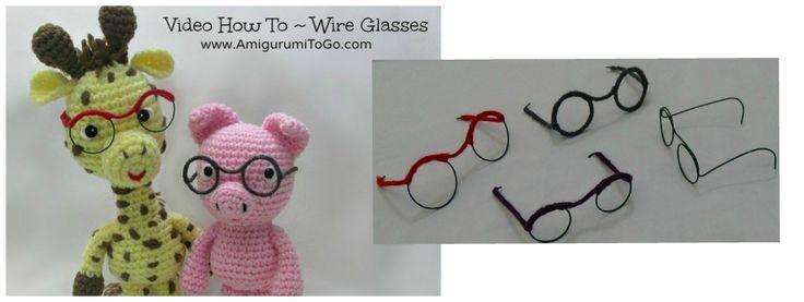 Cómo hacer alambre Gafas Para Muñecas y Amigurumi ~  Video Tutorial ✿Teresa Restegui http://www.pinterest.com/teretegui/✿