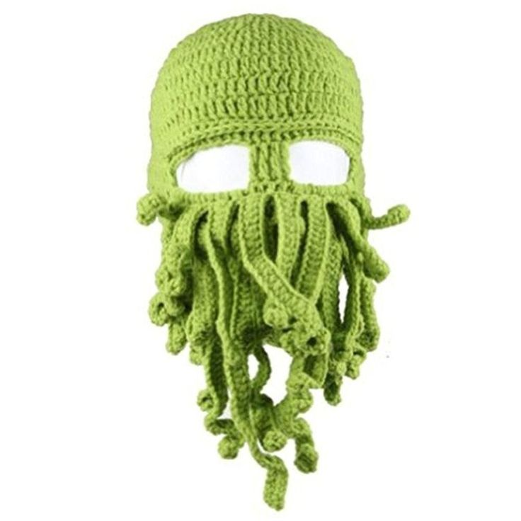 191f6ae394382 Unisex Barbarian Knit Beanie Octopus (One Size- A-Green) - CZ17XWHIGWE
