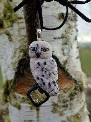 Hedwig the snowy owl (Polymer Clay)