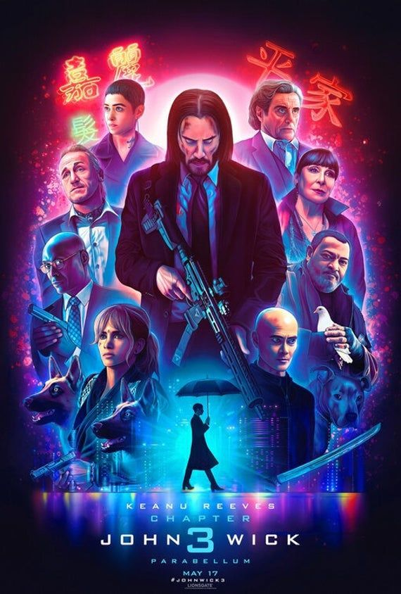 John Wick Canvas Poster Wall Art Print Wall Decor Canvas Print Wall Hangings Game Movie Anime Posters In 2021 John Wick Movie Keanu Reeves Full Movies