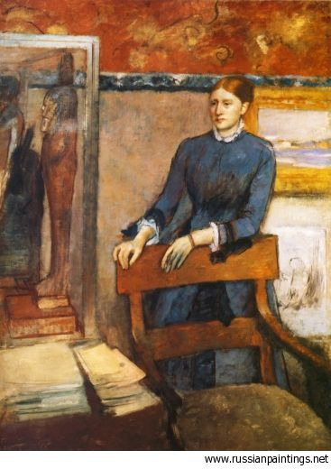 Degas Edgar - 'Helene Rouart in Her Father's Study'