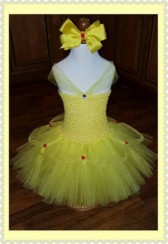 Beautiful Belle Tutu Dress! All orders are custom and can be made for any size child. Price is for a toddler size 3T/4T. Please message me if you need different sizing