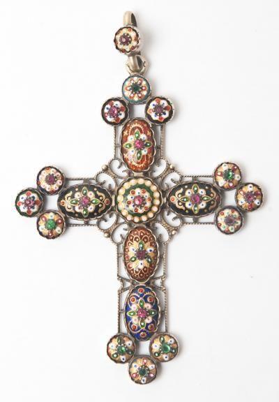 croix de Bresse, argent et émail de Bresse