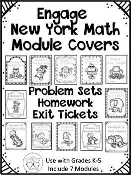 Do you make math packets for your New York Math? I make a problem set packet, a homework packet and an exit ticket packet. These covers will work for any grade K-5 up to seven modules. There are 3 covers for each module and they are ink friendly. Students