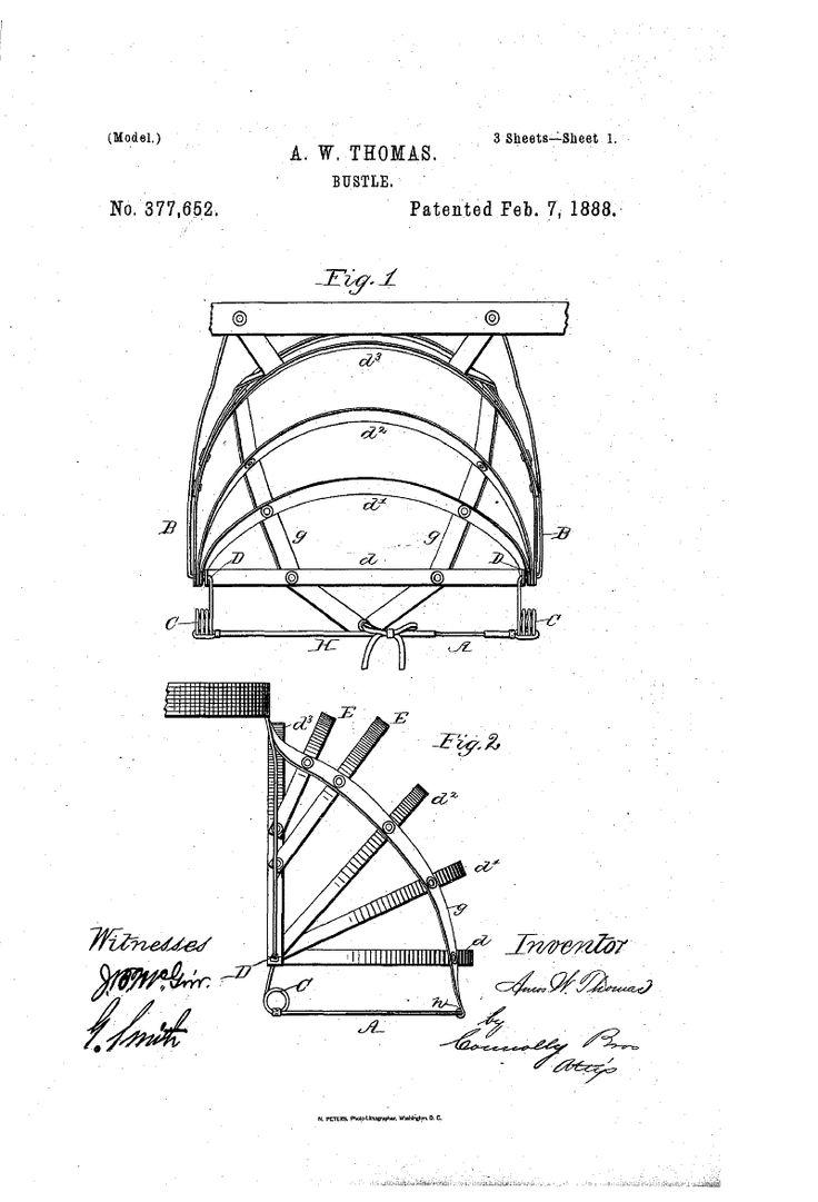 1888 Bustle Patent US377652 - BUSTLE - Google Patents