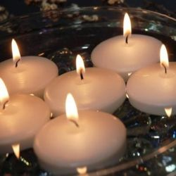Świeczki pływające kremowe, 25 szt