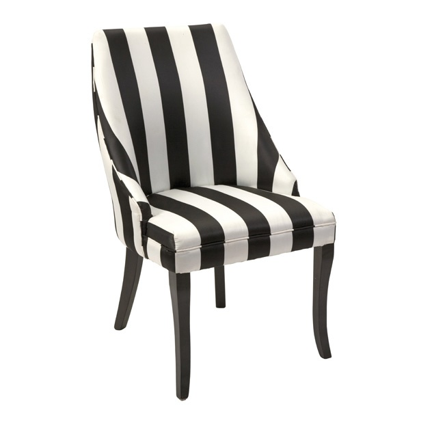 Best Black And White Stripe Chair Available At Www Country 400 x 300