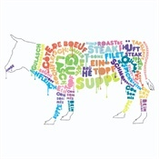 like the typography on the cow