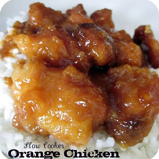 This orange chicken is so easy in the slow cooker.