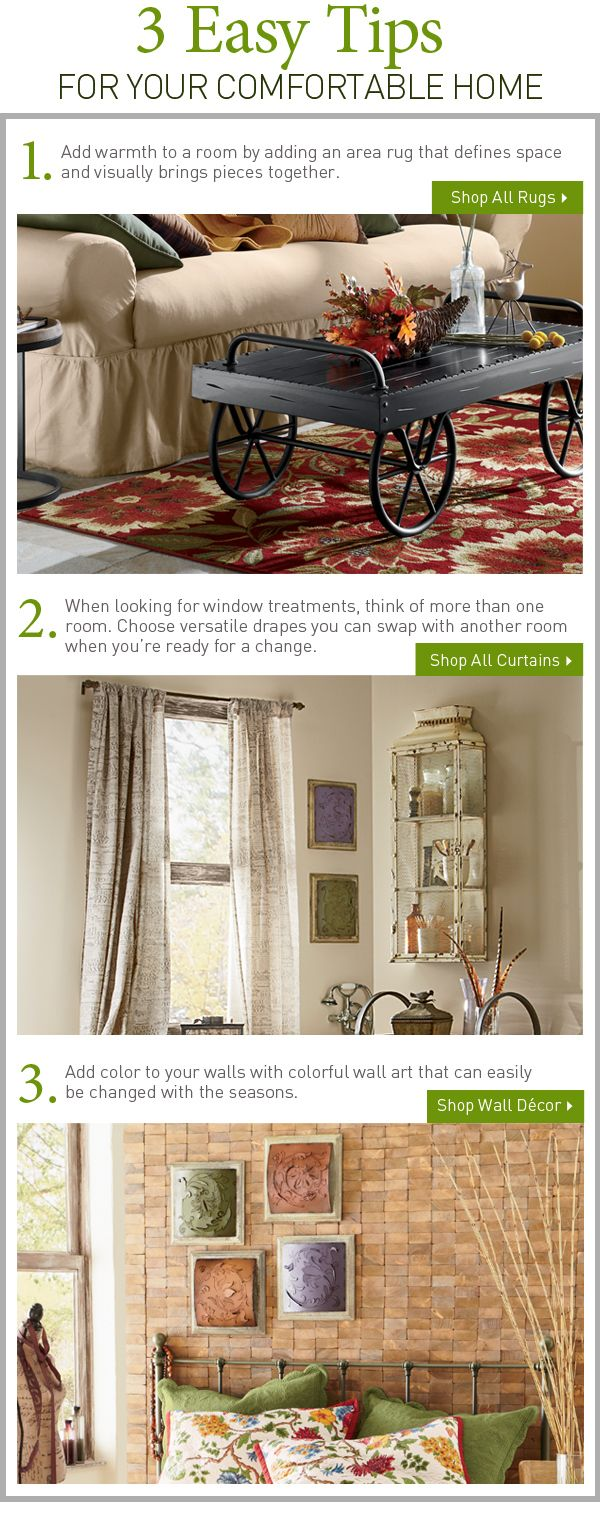 3 Easy Tips For Your Comfortable Home. Www.countrydoor.com