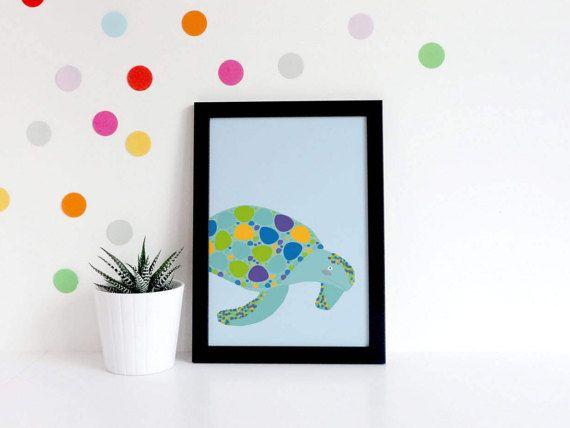 Nursery Prints Boy  Pirate Nursery  Turtle Print  Pirate