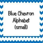 Blue Chevron Alphabet (small) These are perfect for word walls!...