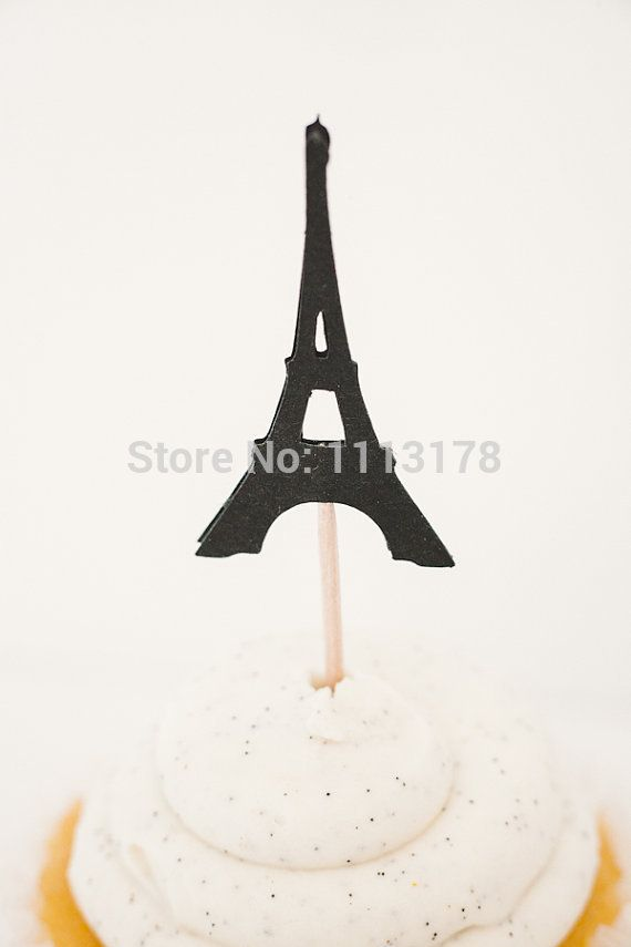 glitter Paris Eiffel Tower Parisian Cupcake Toppers food Picks baby bridal shower birthday  wedding  Bachelorette Party Decor
