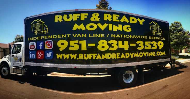 If your looking to move across town or across the country Ruff and Ready Moving is here for you. We specialize in packing, loading, local and long distance moves. Call today for your free in home estimate 951-834-3539
