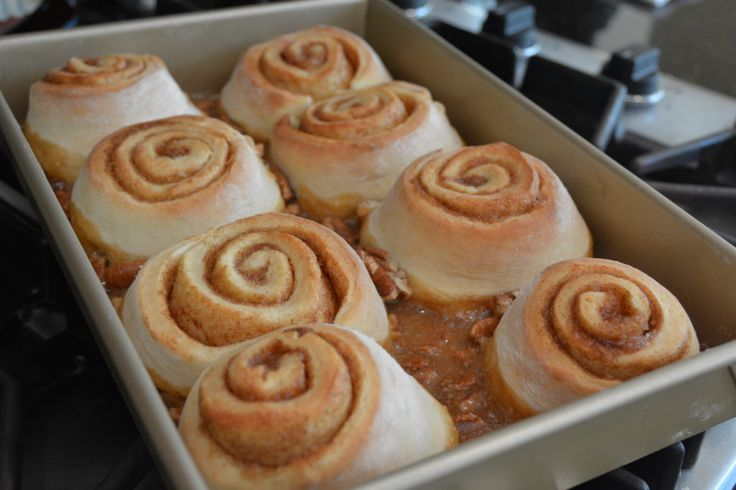 When I think of my favorite breakfast treat, sticky buns always come to mind. I mean, what is not to love about soft, homemade  cinnamon rolls smothered in caramel and pecans??  And when you get to make them fresh in your own kitchen, there is almost nothing better!!  My world is filled with thought