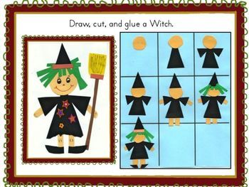 Witch I can draw I can write Halloween fun pack  FREE!