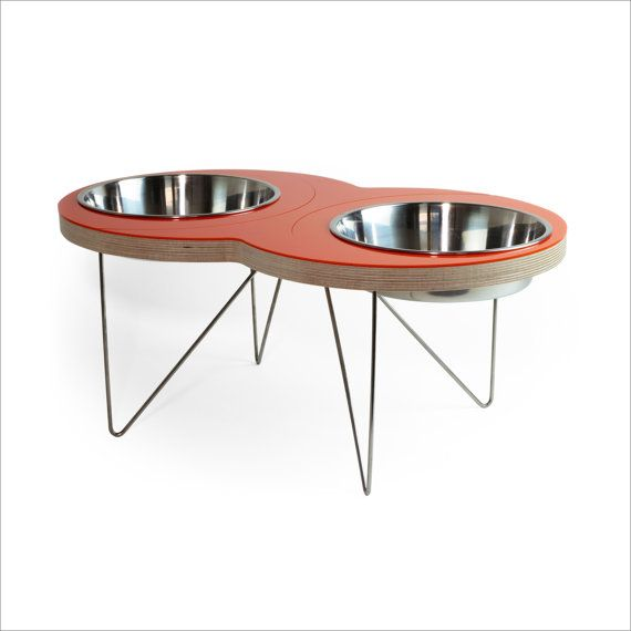 The ultimate mid-century feeding trough for your distinctive pet.