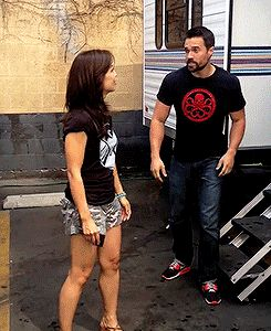 Ming-Na Wen, Brett Dalton || Ice Bucket Challenge || 245px × 300px || #animated #cast || For options to donate to ALS research, check out my blog post: http://colleensheadspace.tumblr.com/post/95463730061/i-love-a-good-social-media-campaign-especially