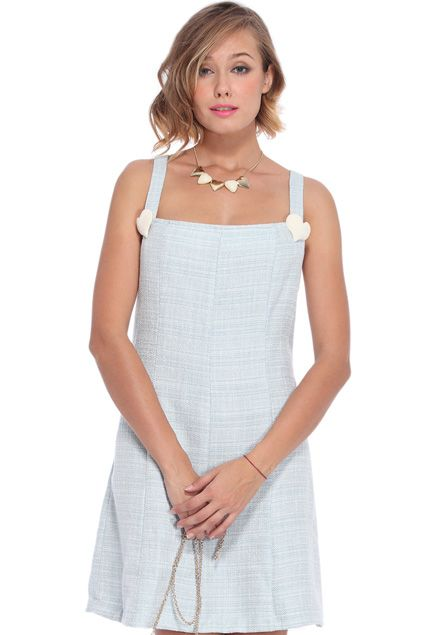 ROMWE | Heart-shaped Embellishment Blue Camisole Dress, The Latest Street Fashion #RomwePartyDress