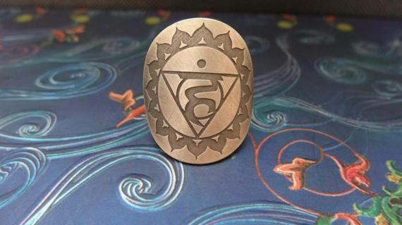 Throat chakra ring sterling silver ring bohemian hippy