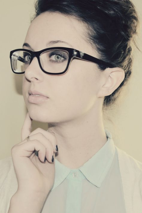 Big Frame Hipster Glasses With High Bun Wear Your Glasses