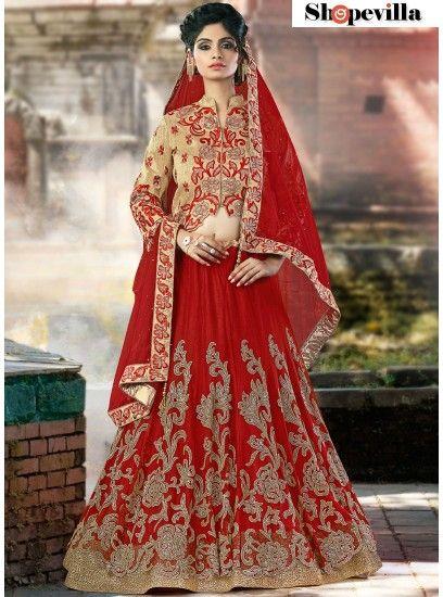 Maroon Colour Net Lehenga Choli-6911