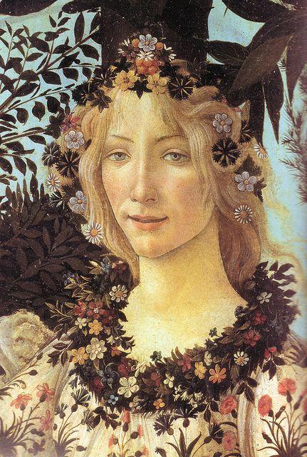 Fragmento de la Primavera, de Boticelli. Galeria Uffizzi, Florencia.