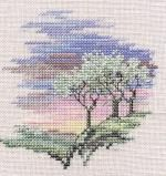 Frosty Trees - Minuets - Cross Stitch Kit from Derwentwater Designs