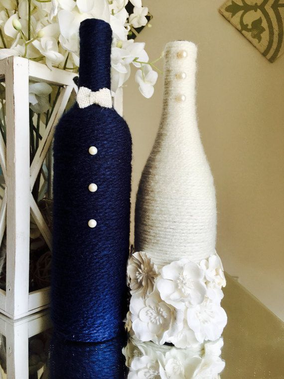25 best wine bottle centerpieces ideas on pinterest for How to decorate a wine bottle for a gift
