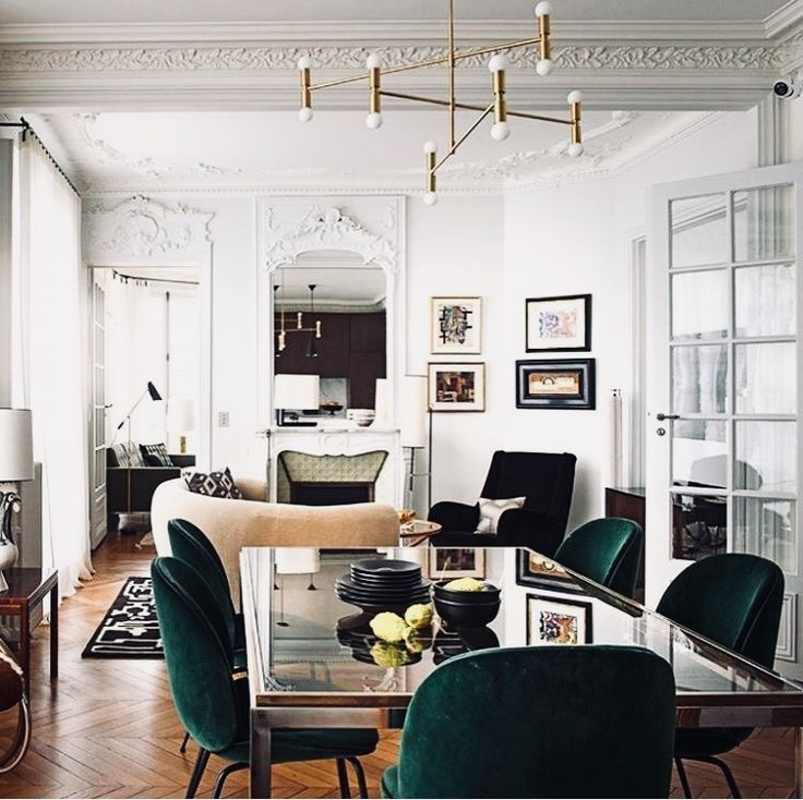 Living room. Dining room. Chairs. Floors. Walls.