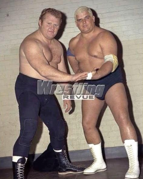 larry the axe henning and dusty rhodes | AWA | Wrestling ...