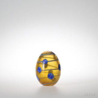 iittala Blue Scaup Duck Egg. Annual egg 2004. Limited 750.